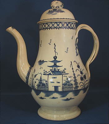 Accessories<br>Archives<br>SOLD   Chinoiserie Coffeepot with Twisted Handles