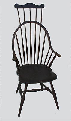 Furniture<br>Furniture Archives<br>SOLD  A Continuous Arm Windsor Comb-back Chair