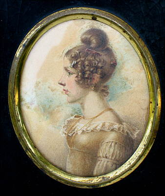 Paintings<br>Archives<br>Portrait Miniature of a Young Woman