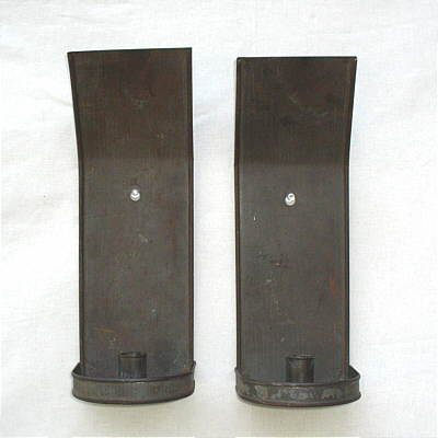 Metalware<br>Archives<br>Pair of Early American Tin Sconces