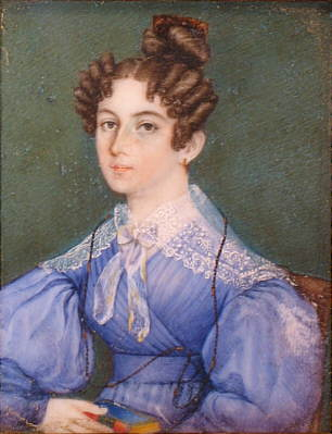 Paintings<br>Archives<br>Portrait Miniature of a Woman in a Blue Dress
