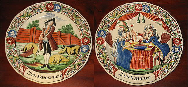 Accessories<br>Archives<br>SOLD   A Pair of Creamware Prodigal Son Plates
