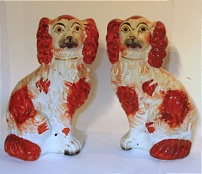 Accessories<br>Archives<br>SOLD   Pair of Staffordshire Dogs