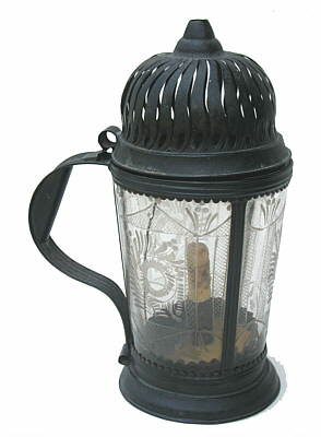 Metalware<br>Archives<br>An 18th century Tin & Glass Lantern