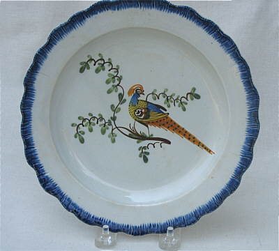 Accessories<br>Archives<br>SOLD   Pearlware Peafowl Plate