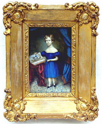 Paintings<br>Archives<br>A portrait on ivory of a boy with his drawing book.