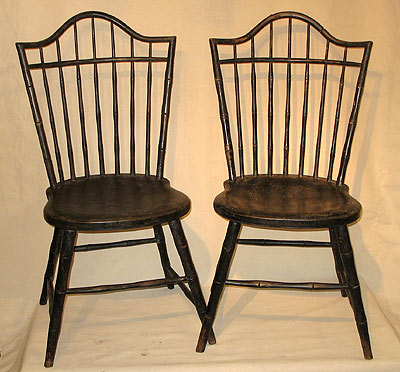 Furniture<br>Furniture Archives<br>SOLD  An Unusual Pair of Windsor Sidechairs