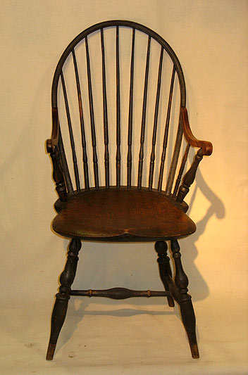 Furniture<br>Furniture Archives<br>SOLD  Rhode Island Tenon Arm Windsor Chair