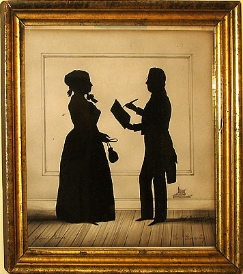 Paintings<br>Archives<br>A Silhouette by August Edouart of Samuel and Abigail Groves