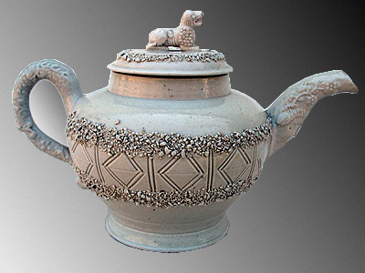 Accessories<br>Archives<br>SOLD   A Rare 18th Century Saltglaze Teapot