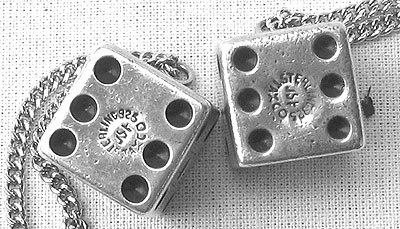 Accessories<br>Archives<br>SOLD   A Pair of Vintage Mexican Sterling Silver Dice