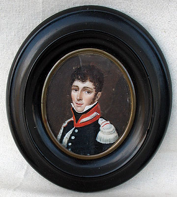 Paintings<br>Archives<br>A Portrait Miniature of a Soldier
