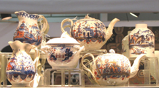 Ceramics<br>Ceramics Archives<br>SOLD  A collection of Imari colored pearlware