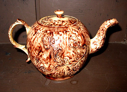 Accessories<br>Archives<br>SOLD   A Whieldon or Tortoiseshell Teapot