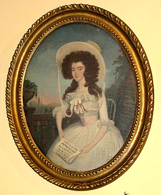 Paintings<br>Archives<br>SOLD    A Regency Lady with Music