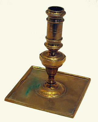 Metalware<br>Archives<br>A Square Based Spanish Candlestick