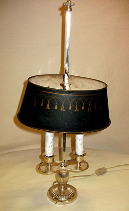Metalware<br>Archives<br>SOLD  A French Bouillotte Lamp