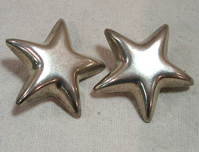 Jewelry<br>SOLD  A Pair of Tiffany Star Earrings