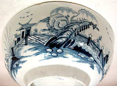 Accessories<br>Accessories Archives<br>SOLD  A Blue and White Chinoiserie Bowl