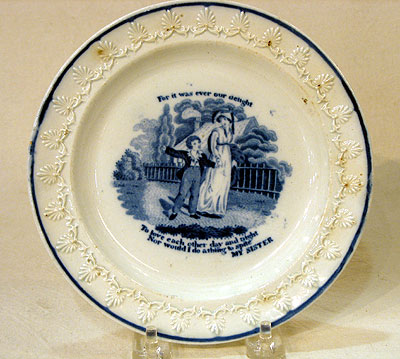 Ceramics<br>Ceramics Archives<br>SOLD   An Early Transferware Plate by Rogers