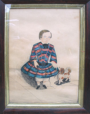 Paintings<br>Archives<br>SOLD A Charming Watercolor Portrait
