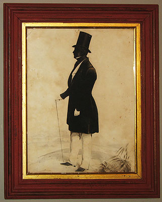Paintings<br>Archives<br>SOLD  A Silhouette by Frith 1844