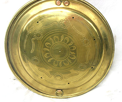 Metalware<br>Archives<br>Brass Warming Pan with Nicely Painted Handle