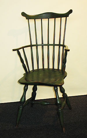 Furniture<br>Furniture Archives<br>SOLD A Connecticut comb-back Windsor in apple green