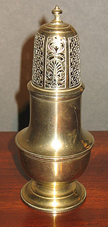 Metalware<br>Archives<br>SOLD  18th century brass caster.
