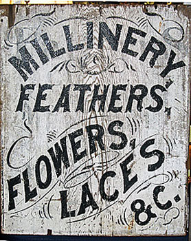 Accessories<br>Archives<br>19th century painted sign.