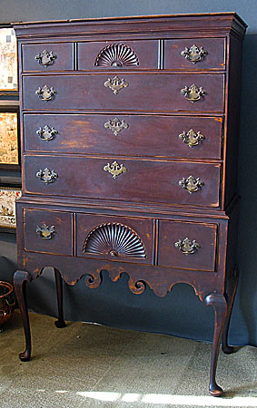 Furniture<br>Furniture Archives<br>SOLD  A Queen Anne High Chest of Drawers