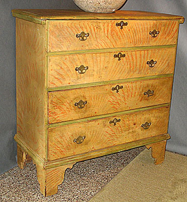 Furniture<br>Furniture Archives<br>SOLD  A New England Painted Blanket Chest