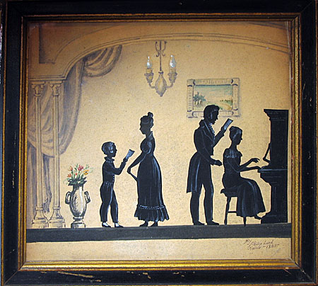 Paintings<br>Archives<br>SOLD  Family Conversation Group by Philip Lord