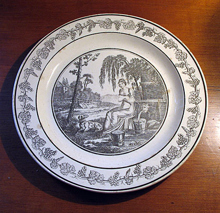 Ceramics<br>Sale<br>French Creamware transfer plate