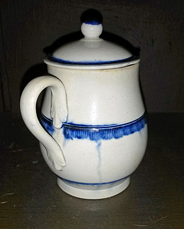 Ceramics<br>Ceramics Archives<br>Blue edge pearlware mustard pot