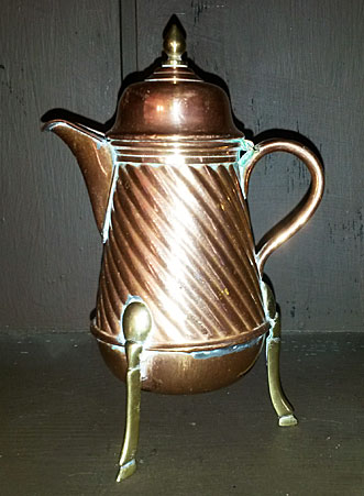 Accessories<br>Accessories Archives<br>SOLD  Miniature copper coffee or chocolate pot