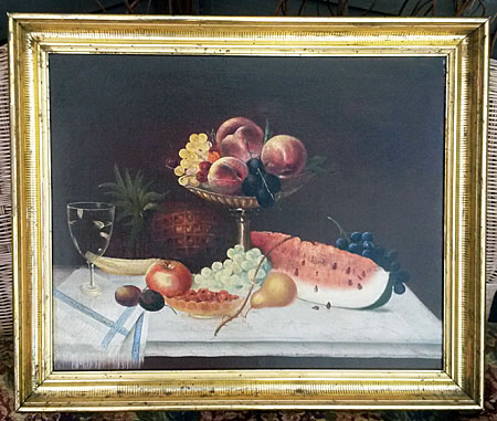 Paintings<br>Oil & Pastel<br>A Still Life of Fruit
