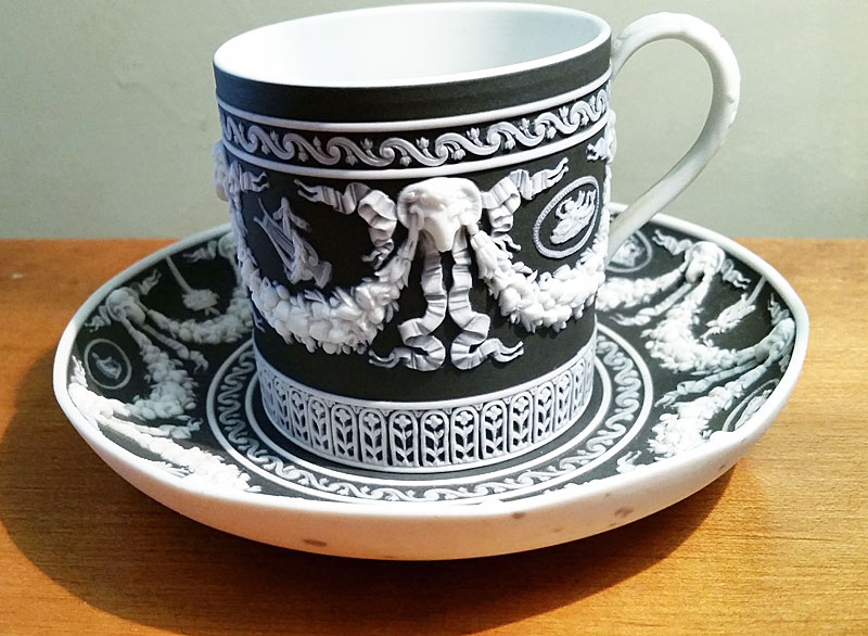 Ceramics<br>Ceramics Archives<br>Wedgwood Jasper Cup and Saucer