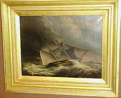 Paintings<br>Archives<br>Oil on Canvas of a Ship in a Storm