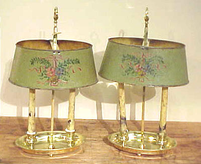 Metalware<br>Archives<br>Pair of French Bouillotte Lamps