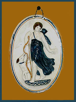 Ceramics<br>Ceramics Archives<br>SOLD   Pearlware Plaque of Diana