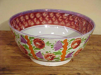 Ceramics<br>Ceramics Archives<br>SOLD   Exuberant Lustre Punch Bowl