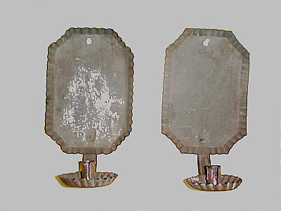 Metalware<br>Archives<br>Pair of American Tin Sconces