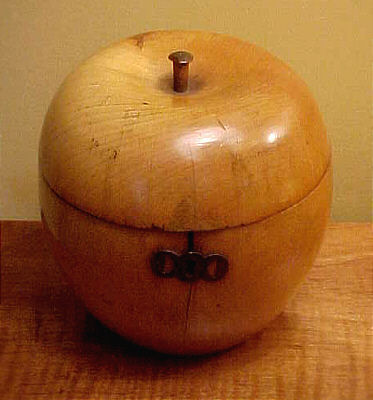 Accessories<br>Accessories Archives<br>SOLD   Fruitwood Tea Caddy in the form of an Apple
