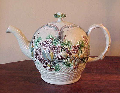 Ceramics<br>Ceramics Archives<br>SOLD   Early Creamware Teapot