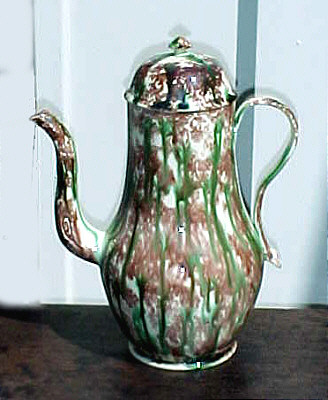Accessories<br>Archives<br>SOLD   Tortoise Shell Glazed Creamware Coffeepot