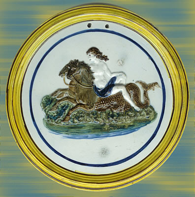SOLD   Prattware Mythological Plaque