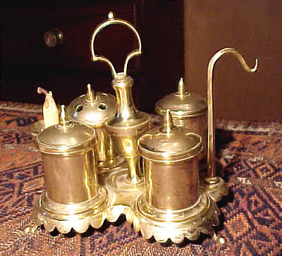 Metalware<br>Archives<br>Brass Standish or Inkstand