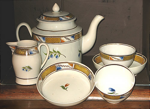 Accessories<br>Archives<br>SOLD   Pearlware tea set