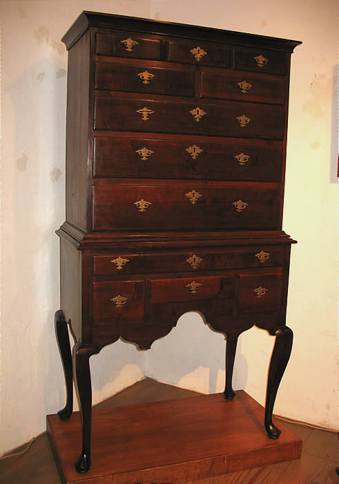 Furniture<br>Furniture Archives<br>SOLD  DIMINUTIVE RHODE ISLAND QUEEN ANNE HIGHBOY